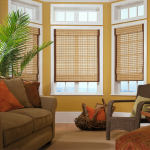 Woven Wood Shades with Accent Hem Trim